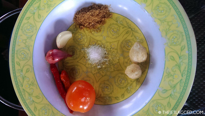 Sambal pedas ingredients